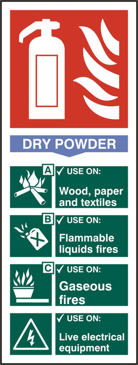 FIRE EXTINGUISHER DRY SIGN - BSS12305