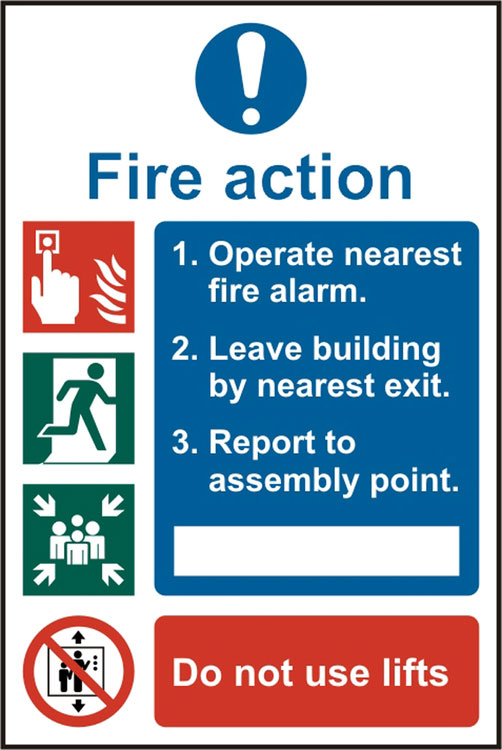 FIRE ACTION PROCEDURE SIGN - BSS13843