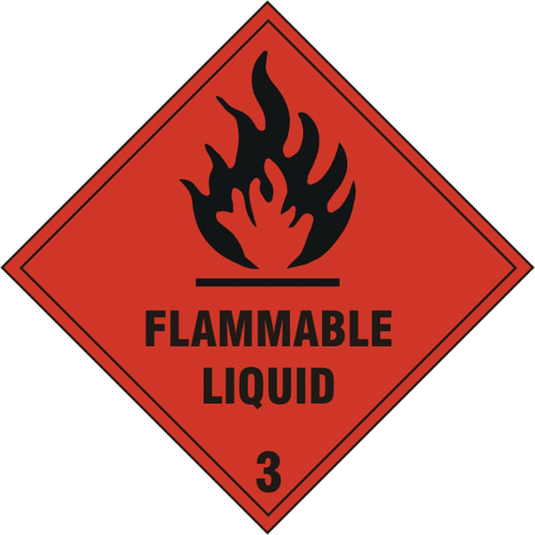 FLAMMABLE LIQUID SIGN - BSS1858S