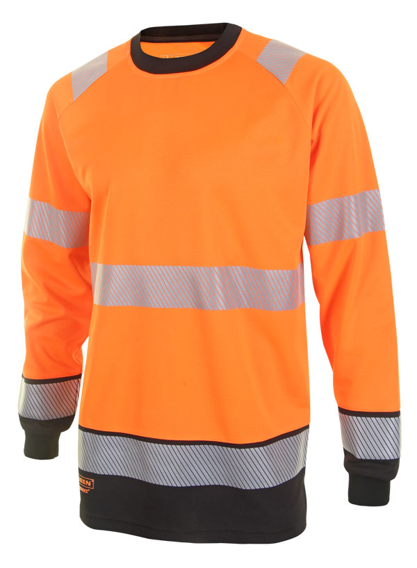 HIVIS TWO TONE LONG SLEEVE T SHIRT - HVTT005
